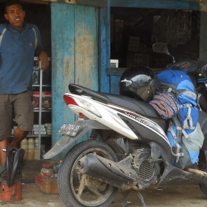 Scooter door Indonesië