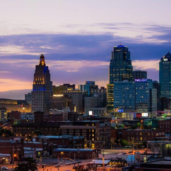 Kansas City in de Amerikaanse Midwest