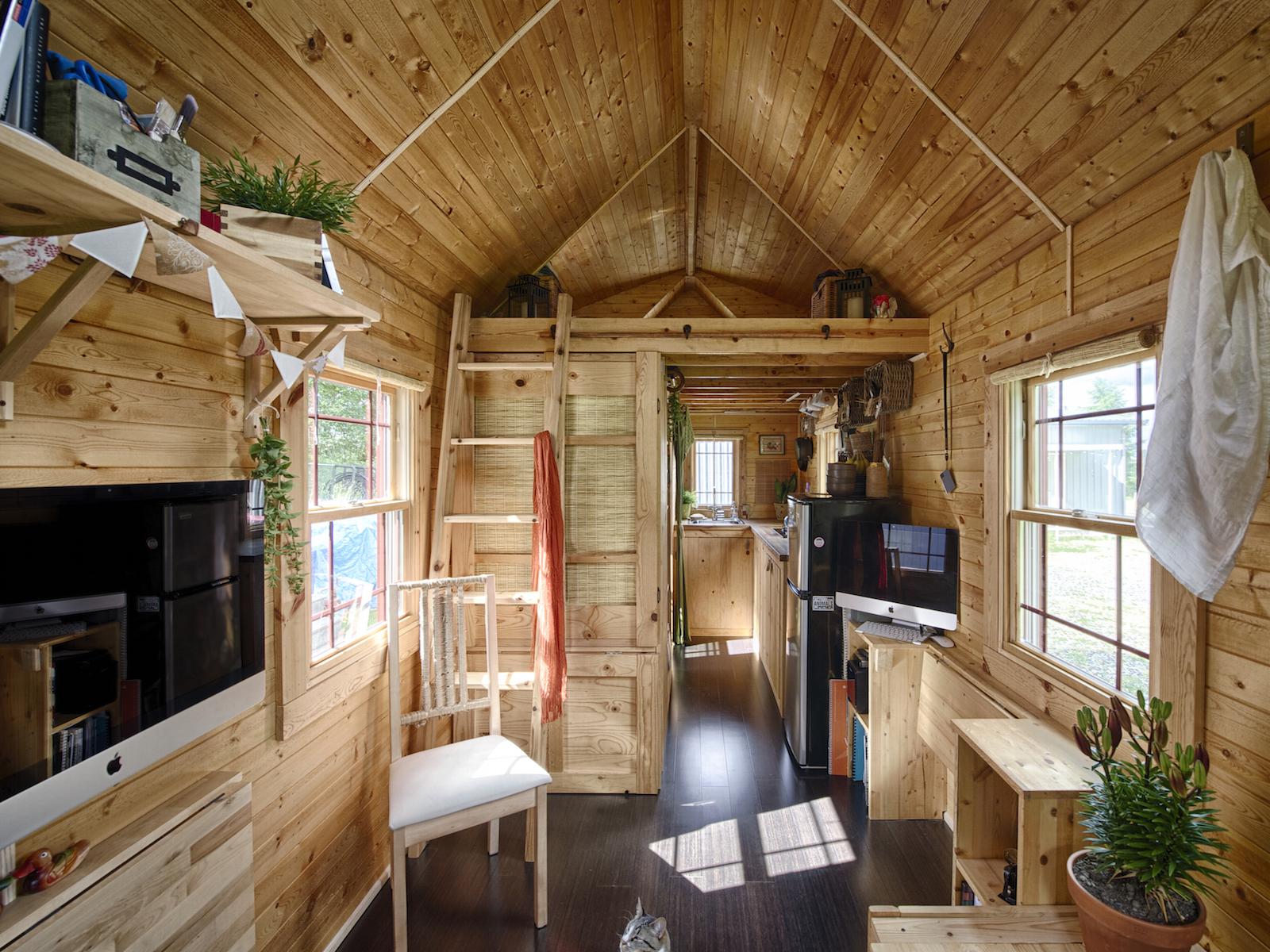 Wonen in een tiny house op wielen de ultieme vrijheid for Piccole planimetrie di piccole case