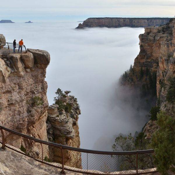 Total cloud inversion hult Grand Canyon in wolkenzee