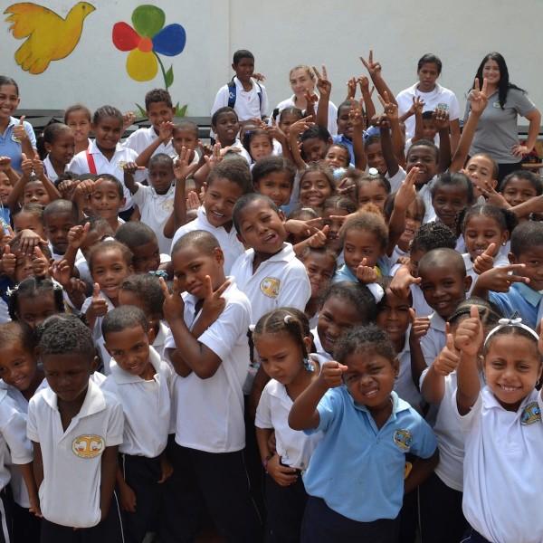 Lesgeven in de sloppenwijken van Colombia