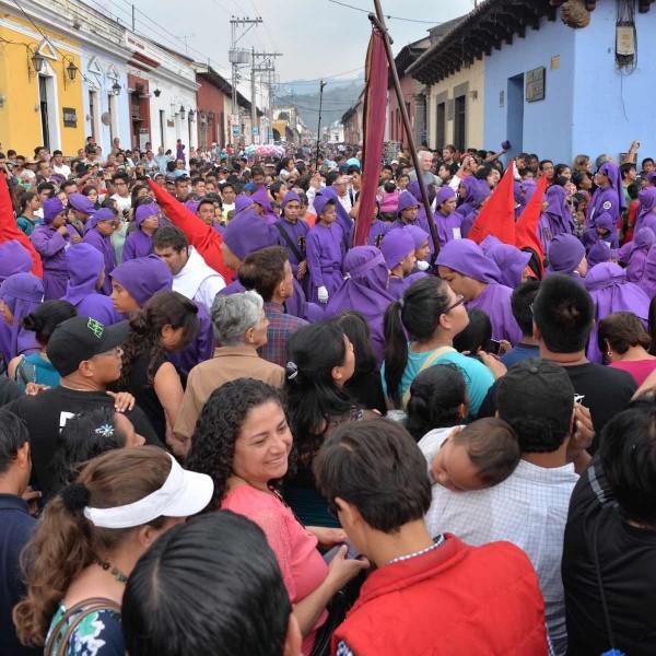 Semana Santa vieren in Antigua, Guatemala