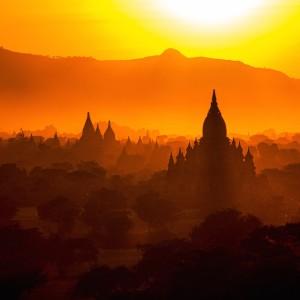 tempels in Myanmar