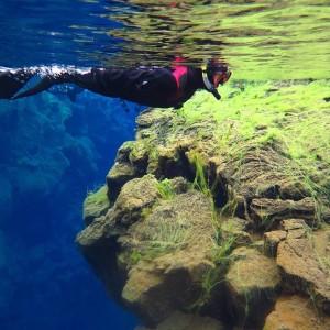 snorkelen in IJsland