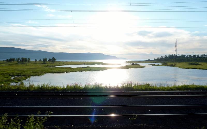 aan boord van de Transmongolië Express
