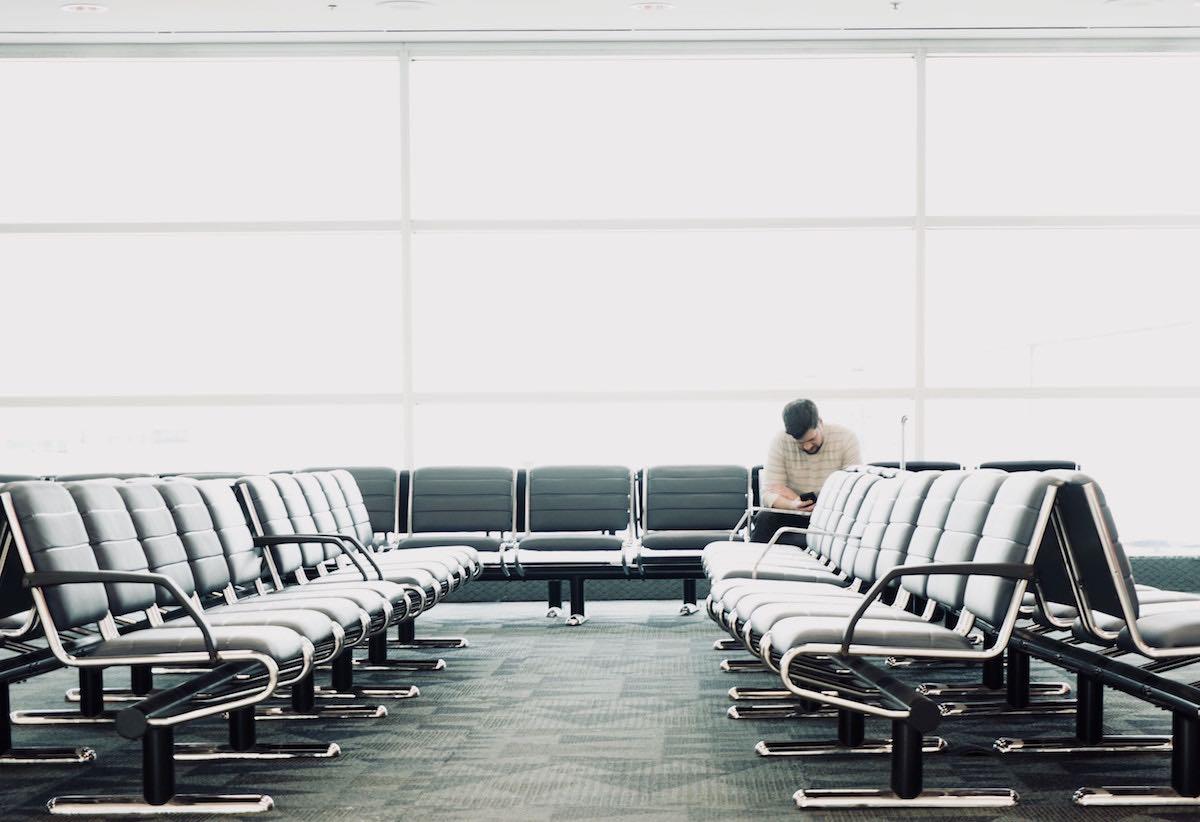 rechten vliegtuigpassagier