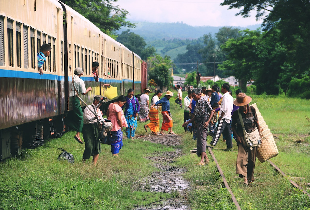 reisroute door Mandalay