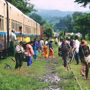 reisroute door Myanmar