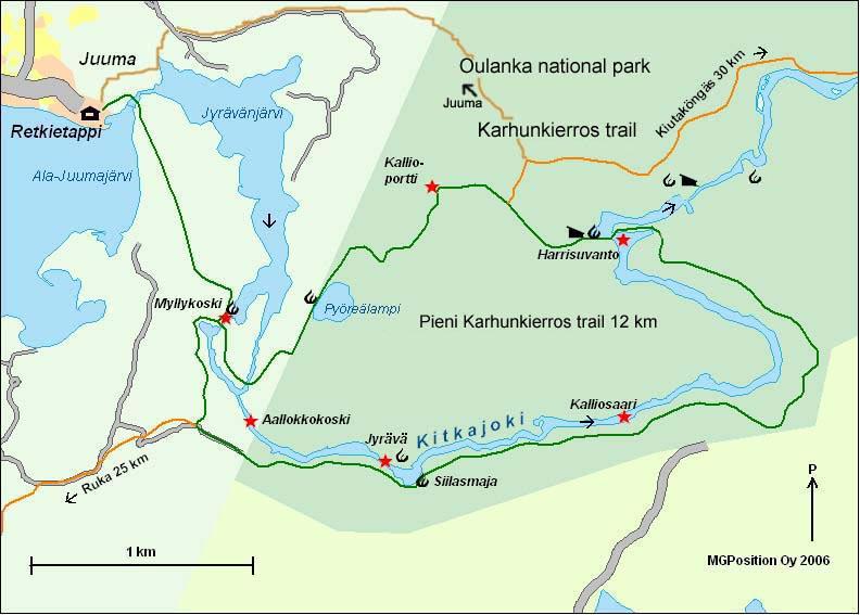 Pieni Karhunkierros map