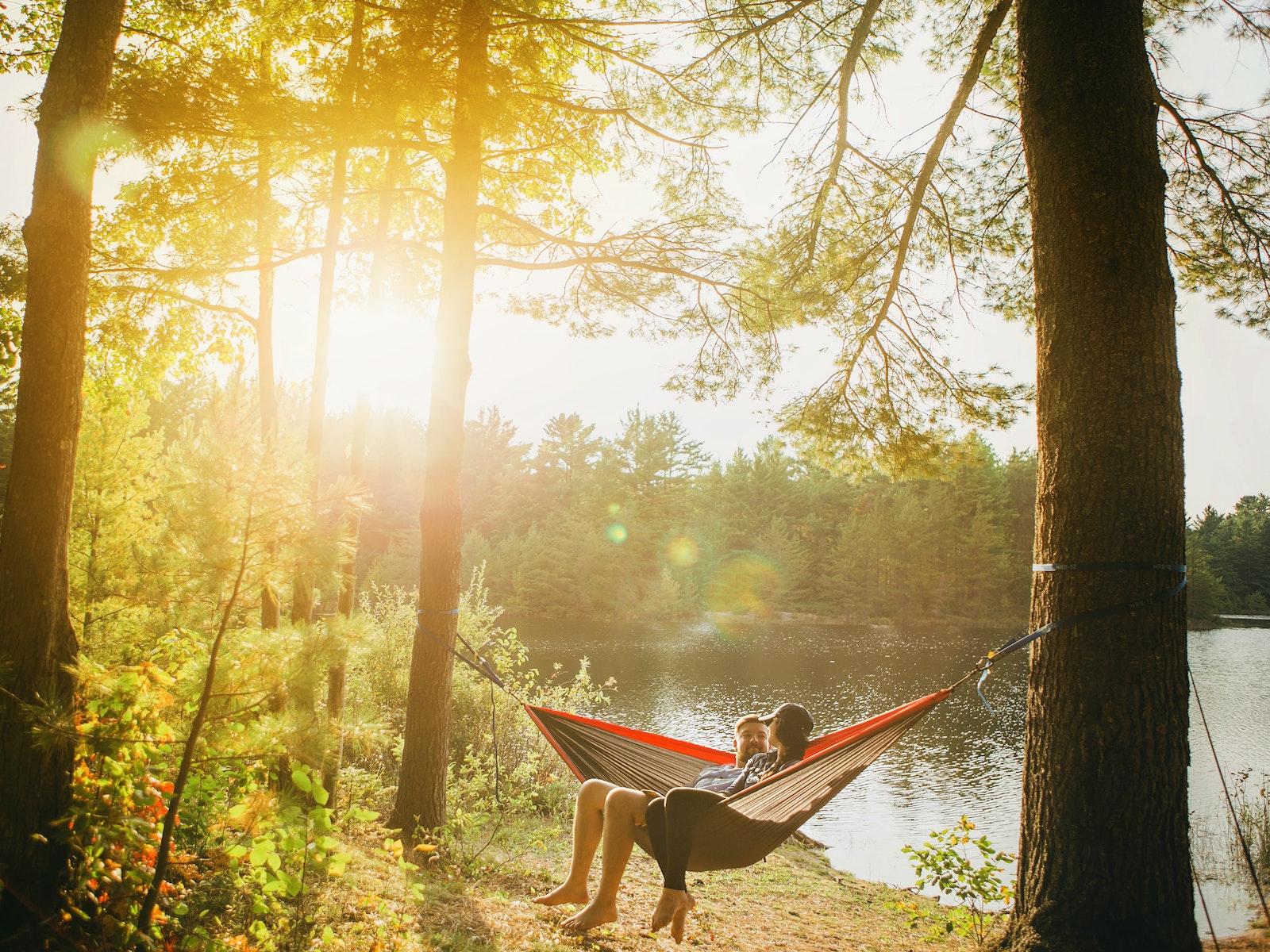 kamperen in de natuur